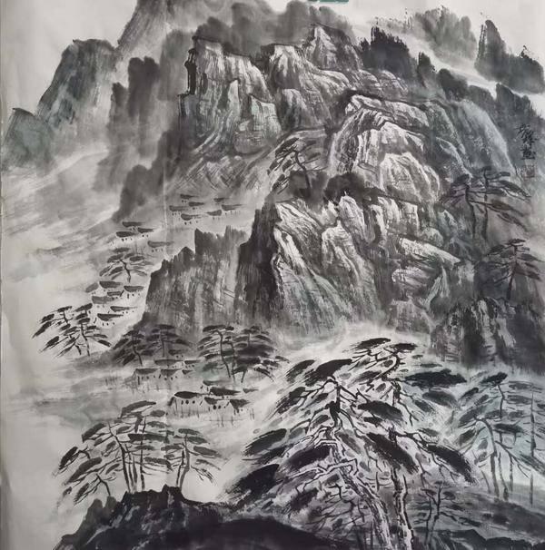 鲁世锋《凤凰山风景》68x68.jpg