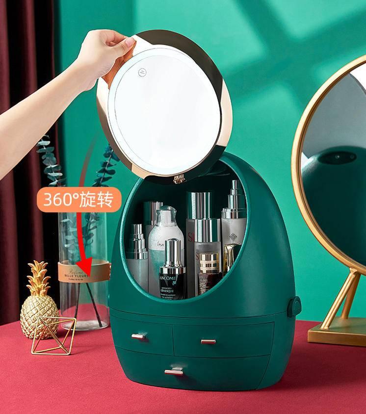 卡贝两用收纳盒,收纳盒+化妆镜=?